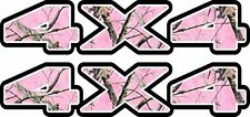 4x4 Pink Camo Fender Plastic Decal for Atv, Truck, or Jeep