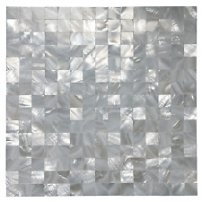 Mother of Pearl Shell Mosaic Tile for Kitchen Backsplashes, Mini Square Seamless