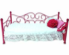 Doll Bed Daybed 18 Fits American Girl Dolls Day Single Furniture Mattress Metal