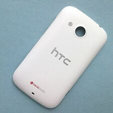 100% Genuine HTC Desire C rear battery cover back fascia housing white+red beats
