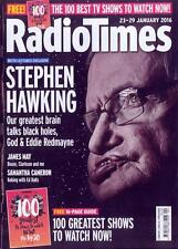 STEPHEN HAWKING REITH LECTURES EXCLUSIVE RADIO TIMES 2016 PHOTO COVER INTERVIEW