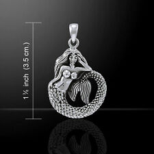 Mermaid .925 Sterling Silver Pendant by Peter Stone