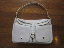 "Kate Spade New York RARE ""Sutton"" Large Perrin White Leather Handbag"