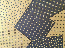 Japanese Fancy Chiyogami Kraft Patterned Origami Paper Made in Japan 42 Sheets