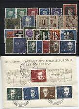 Federal 302-325 con bloque y marcas individuales cosecha 1959 con sello (b05333)