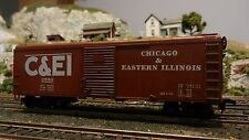 Bowser HO Custom Lettered C&EI 40' Single Door Round Roof Boxcar, Upgraded, Exc.