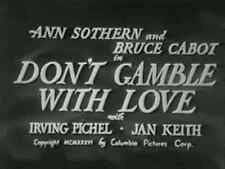 DON'T GAMBLE WITH LOVE (1936) DVD ANN SOTHERN, BRUCE CABOT