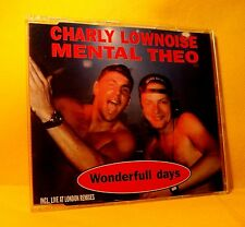 MAXI Single CD Charly Lownoise Mental Theo Wonderfull Days 5TR 1995 Happy Hardco