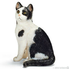 *NEW* SCHLEICH 13637 Sitting Black & White Cat - RETIRED