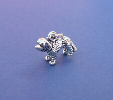 ST BERNARD DOG 3D SMALL CHARMS 925 CHARM STERLING SILVER