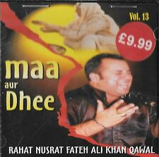 RAHAT NUSRAT FATEH ALI KHAN QAWAL - MAA AU DHEE - BRAND NEW CD - FREE UK POST