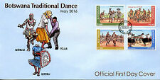 Botswana 2016 FDC Traditional Dance 4v Set Cover Cultures & Traditions Stamps