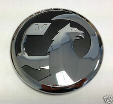 GENUINE VAUXHALL INSIGNIA FRONT GRILLE BADGE EMBLEM AND BLACK BACKING BRAND NEW.