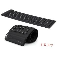 Keyboard 2.4Ghz Waterproof Flexible Silicone Soft Rubber PC / Laptop