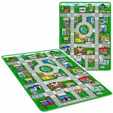 Large Kids Children's Play Mat City Race Car Toy Track Rug Eva Foam Mat 120x90cm