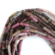 "13mm pink rhodonite tube beads 16"" strand"