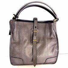 W-1007759 New Belstaff Python Nottingham 38 P Grey Shoulder Bag