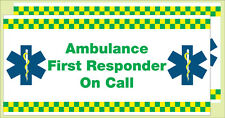 AMBULANCE FIRST RESPONDER VEHICLE STICKER. x 2  size 410mmx200mm