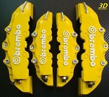 Yellow Brembo Brake Caliper Covers 4pcs Set Front Rear Universal Car Truck 3D