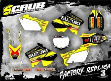 SCRUB Suzuki graphics decals kit RM 125 250 2001 - 2008  stickers MX '01-'08