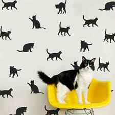 30 X SINGOLO Kitty amante dei gatti Wall Art Stickers Vinyl Decal Decor IDEA
