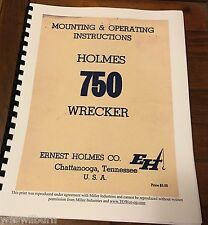 64 Ernest Holmes 750 Wrecker Service Manual tow truck heavy duty Towing & recove