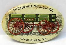 1905 THORNHILL WAGON CO. Lynchburg VA farm advertising celluloid pocket mirror *