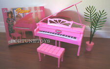 GLORIA DOLLHOUSE FURNITURE SIZE PIANO W/Chair PLAYSET FOR BARBIE