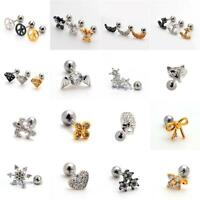 Small Helix Ear Crystal Cartilage Body Piercing Jewellery Tragus Bars Earring