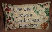 One Who Sows a Garden Reaps Happiness Tapestry Pillow Rectangular Throw Cushion