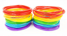 New High Quality 40 Piece Rainbow Jelly Bracelet Set Gay Pride #B1112A-40