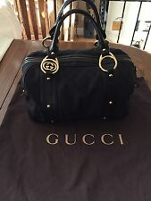 AUTHENTIC GUCCI DOUBLE G CANVAS BOSTON BAG