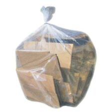 CLEAR CONTRACTOR GARBAGE BAGS 33 X50 42 GALLON 4 MIL 100 CS WOW SALE PRICE USA