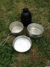 military cooking set and 2 pint waterbottle