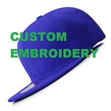 Create Your Custom Personalised Embroidery Royal FLAT Peak SNAPBACK Cap Hat