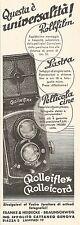 W2585 Rolleiflex - Rolleicord - Ing. Ippolito - Pubblicità del 1935 - Old advert