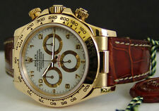 ROLEX - 40mm 18kt Gold DAYTONA White Arabic - Model 116518 - SANT BLANC