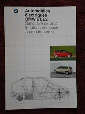 Bmw E1 & E2 Electric City Cars Raro 1992 Folleto Prospekt Catálogo-Texto En Francés