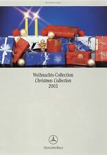 Prospekt D GB Mercedes Benz Weihnachts Christmas Collection 2003 brochure