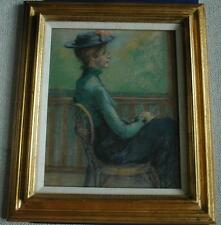 """Original Pastel Titled """"Turn of The Century"""" by New Mexican Artist Riva Wolf"""