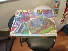 SWORD AND SORCERY PLAY SET KNIGHTS VIKINGS VINTAGE TOY W  BOX CASTLE DRAGON 1982