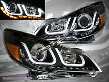 10-14 Subaru Outback / Legacy i8 Style U LED Black Housing Projector Headlights
