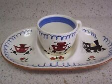 """Vintage Stangl Pottery Kiddieware """"Mealtime Special"""" Cup & Matching Divided Dish"""