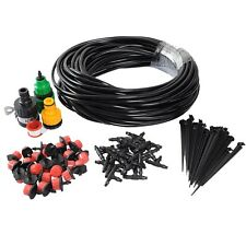 25m 25 Drippers DIY Plant Self Watering Garden Hose Micro Drip Irrigation System