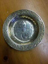 Small Indian Brass Dish Tray Decorated