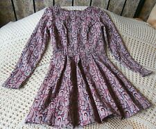 Tapestry weave look dress by ATMOSPHERE Size 8 Maroon pink turquoise