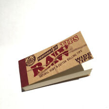 RAW ROLLING PAPERS PERFORATED COTTON WIDE FILTER TIPS (50 PER PACK)