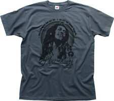 Bob Marley Reggae let the music rock me Album CD T-shirt Imprimé charbon 0537