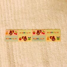 SANRIO DEERY LOU Strip of 8 Stickers Fruit Logo Dated 2004