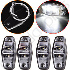 4pcs Trailer 2Diode Clear / White Clearance Side Fender marker LED Light